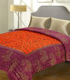 Buy Violet And Orange Rajastani Double Bed Razai jaipuri-razai online