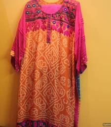 Buy RED Bandhani Georgette kaftan online