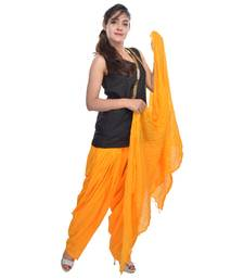 Buy Yellow Cotton Patiala Salwar with Dupatta readymade-suit online
