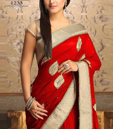 Buy Akshra red worked georgette actress saree with blouse other-actress-saree online