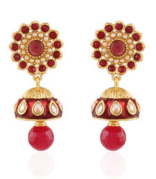 Buy Stylish Gold plated Antique Earring jhumka online