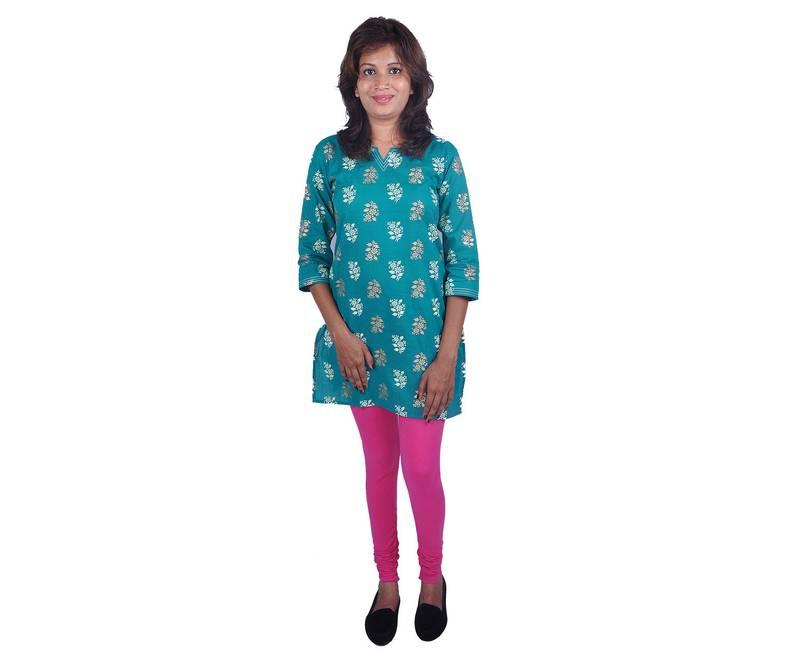 Buy Combo Pack Of 2 Cotton Lycra Leggings Dark Pink