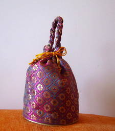 Buy Brocade Potli with Tie-up and a top handle potli-bag online