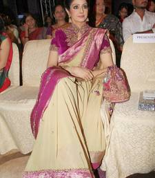 Buy Bollywood actress Sridevi inspired designer party wear saree sridevi-saree online