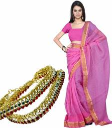 Buy Ethnic Kota Doria Cotton Saree Mothers Day Gift gifts-for-mom online