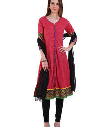 Buy PEACH embroidered Cotton stitched salwar with dupatta readymade-suit online