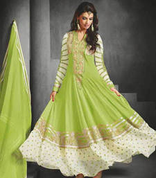 Buy Sea Green embroidered georgette Semi stitched salwar with dupatta wedding-salwar-kameez online