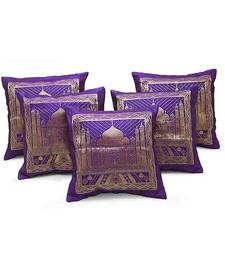 Buy Designer Brocade Tajmahal 5 Pc. Cushion Covers Set other-home-furnishing online
