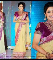 Buy multicolor embroidered net saree with blouse bollywood-saree online