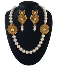 Buy Ethnic Gold plated kundan set necklace-set online