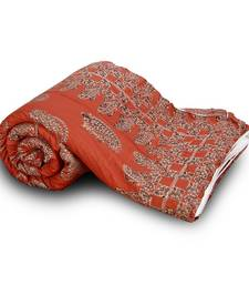 Buy Designer Red Fancy Paisley Cotton Double Bed jaipuri-razai online