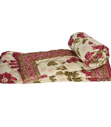Buy Floral Hand Block Cotton Single Bed Quilts jaipuri-razai online