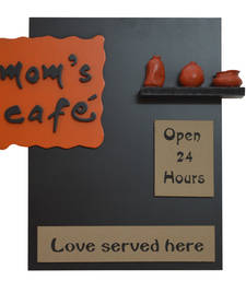Buy Wood + Polyresine Moms Cafe Kitchen Name plate wall-decal online