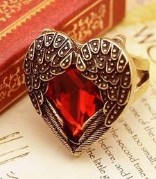Buy Heart Beat Antique Ring-Crystal Red gifts-for-her online