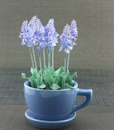 Buy Artifical Flower With Ceramic Cup Pot thanksgiving-gift online