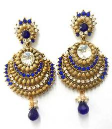 Buy Metal Finish Royal Blue Earings danglers-drop online