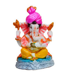 Buy Synthetic Lord Ganesha with Turban housewarming-gift online