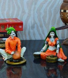 Buy Combo of Rajasthani Craftman and Lady Statue thanksgiving-gift online