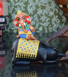 Buy Teracotta Lord Ganesha on Rat thanksgiving-gift online