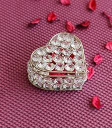 Buy Decorative Heart Shape Crystal Jewellery Box home-decor online