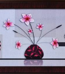Buy Floral Theme Satin Matt Texture Framed UV Art Print painting online