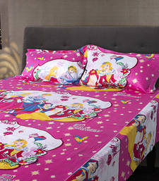 Buy Princess Design Kids Double Bedsheet with 2 Pillow Cover housewarming-gift online