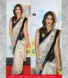 Buy White Multy net saree with blouse other-actress-saree online