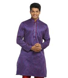 Buy purple art_silk kurta_pyjama kurta-pajama online