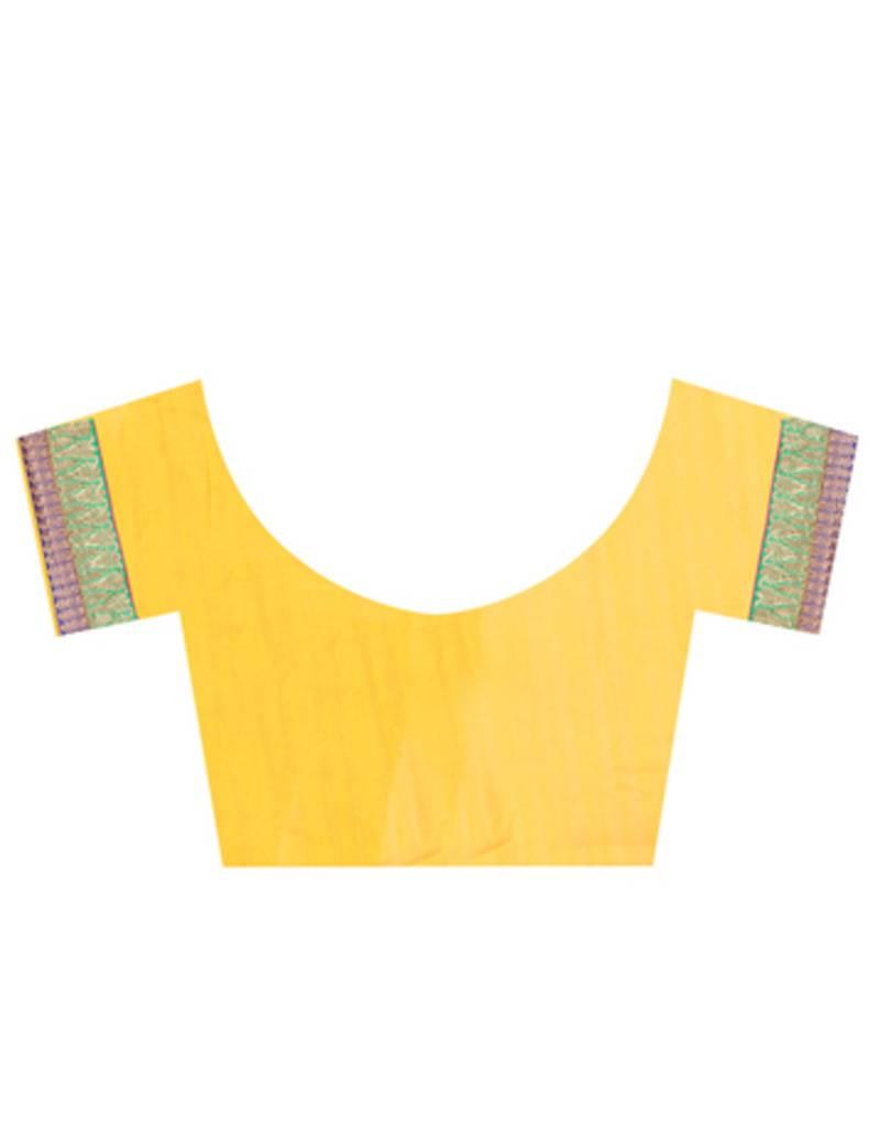 Yellow Silk Blouse Ladies 112