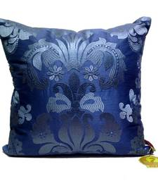 Buy Blue Damask Patterned Cushion Cover pillow-cover online