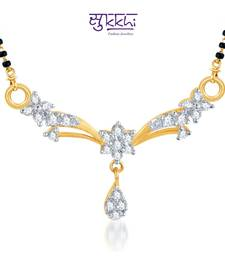 Buy Sukkhi Classic Traditional CZ Gold and Rhodium Plated mangalsutra(116M450) mangalsutra online