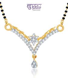 Buy Sukkhi Briliant CZ Gold and Rhodium Plated mangalsutra(123M500) mangalsutra online
