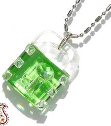 Lock and Key Crystal Pendant shop online