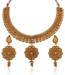 Buy Alluring stylised Antique set necklace-set online