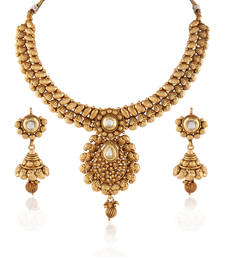 Buy Immaculate Traditional Gold plated kundan set necklace-set online