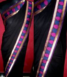 Buy black magic georgette-saree online