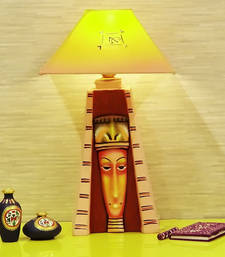 Buy Handpainted Egyptian Woman  Lamp Multi-coloured table-lamp online