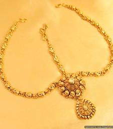 Buy Yellow Gold maang-tikka pakistani-jewellery online