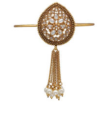 Buy Exclusive paan shaped diamond studded bajubandh bajuband online