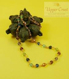 Buy Handmade Gold Plated Multi Crystal Beaded Necklace Chain Necklace online