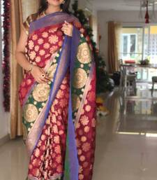 Buy Gorgeous Jamun wedding-saree online