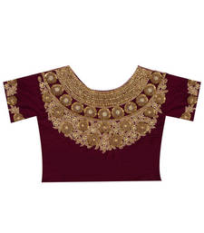 Buy Maroon Velvet blouse-fabric blouse-fabric online