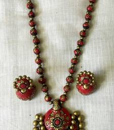 Buy Red and antique gold and Terracotta jewellery terracotta-jewelry online