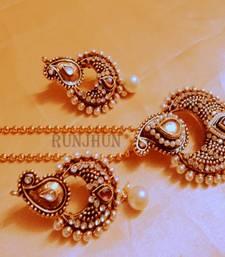 Buy designer pearl pendent set Pendant online