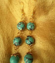 Buy Hanging Turquoise Earrings-02037 danglers-drop online