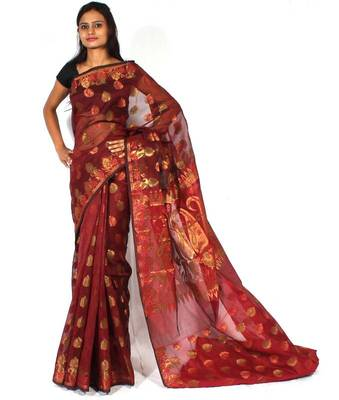Supernet Multi Colour Zari Patola Saree