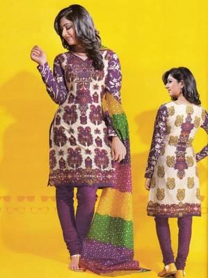Dress material cotton designer prints unstitched salwar kameez suit d.no 1734