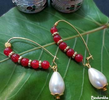 Red_Beads_Long_Hook_Pearl_Drop_Earrings