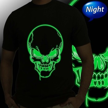Thayam Horror Skull Mens Radium Tshirt at Offer,Guys Special Effect Tshirt