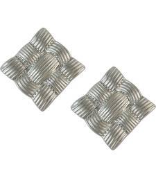 Buy Square Silver Drop Earring for Women danglers-drop online